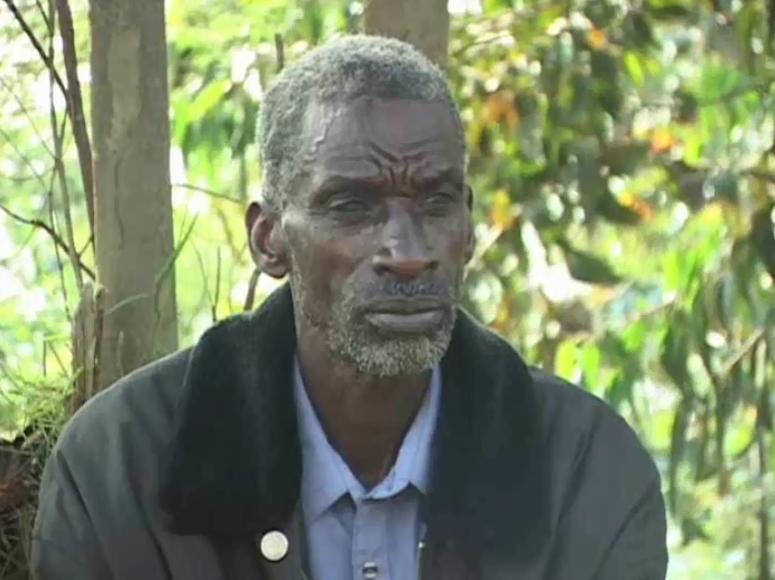 Siméon Karamaga, chef adjoint de la résistance à Bisesero